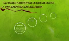 FACTORES AMBIENTALES QUE AFECTAN A UNA EMPRESA EN COLOMBIA
