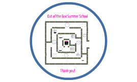 Presentation of Out of the Box Summer School