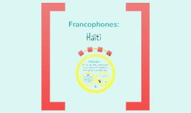Francophones: Haïti