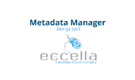 Eccella Metadata Manager Presentation Q4 2013
