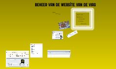 Beheer van de website