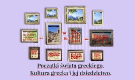 Początki Świata greckiego.