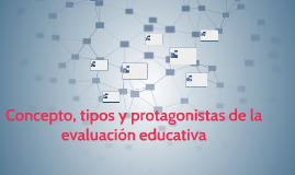 concepto, tipos y protagonistasde la evaluación educativa