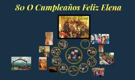 80 o cumpleaños feliz Elena