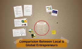 Comparision Between Local & Global Entrpreneurs