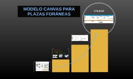 MODELO CANVAS PARA PLAZAS FORÁNEAS