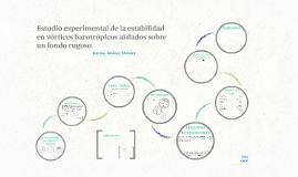 Copy of Estudio experimental de la estabilidad en vórtices barotrópi