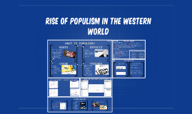 RISE OF POPULISM IN THE WESTERN WORLD