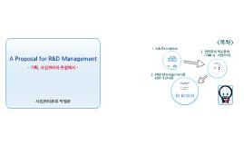 A Proposal for R&D Management