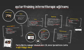 Copy of opstarttraining internettherapie