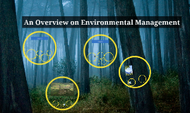 An Overview on Environmental Management