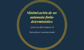 Minimización de un automata finito determinístico