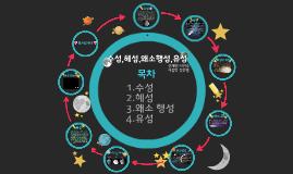 왜소행성, 유성,  혜성, 수성
