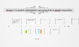 Steiner II: Un modelo conceptual y operacional de la planif corporativa