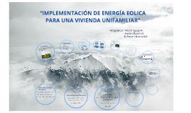 Implementación energia eólica para una vivienda unifamiliar