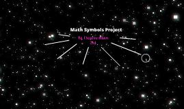 Math Symbols Project
