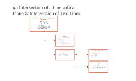 9.1 Intersection of a Line with a Plane & Intersection of Tw