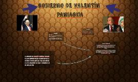 GOBIERNO DE VALENTÍN PANIAGUA