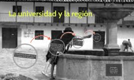 La universidad y la región