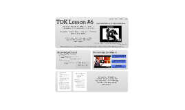G11 TOK Lesson #6: Knowledge Claims & Questions