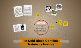 In Cold Blood Conflict Nature Vs Nurture