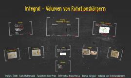 Integral - Volumen von Rotationskorpern