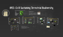 Buford APES: Ch 10 Sustaining Terrestrial Biodiversity