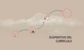 ELEMENTOS DEL CURRICULO