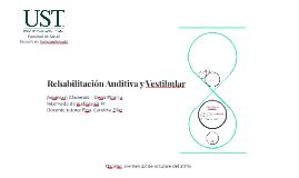 Rehabilitación Auditiva y Vestibular