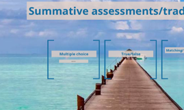 Summative assessments/traditional assessments