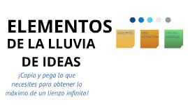 Plantilla - Elementos de Lluvia de Ideas de Francisco Huerta Iga