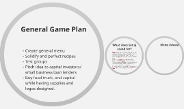 General Game Plan