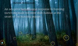 Red deer habitat shift: Steven Robinson