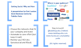 Getting social: Why and How