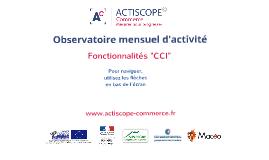 Actiscope commerce - Présentation CCI
