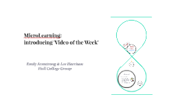 Microlearning - introducing 'Video of the Week'