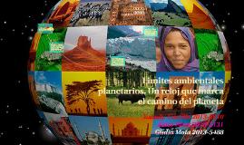 Copy of Limites ambientales planetarios. Un reloj que marca el camin