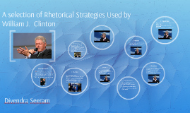 A selection of Rhetorical Strategies Used by William J.  Cli