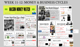 WEEK 11-12: MONEY & BUSINESS CYCLES