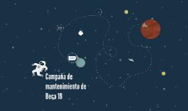 Campaña de mantenimiento de Beca 18