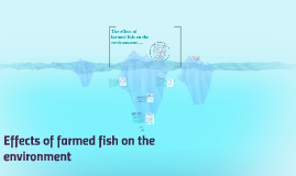 The effect of farmed fish on the enviornment.....