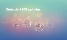 Dieta de 3100 calorías