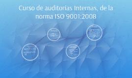Informe de curso - Auditoría Interna ISO 9001:2008