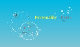 Personality - Week 1