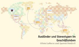 Ausländer und Stereotypen im Geschäftsleben
