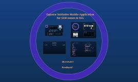 Mobile App - EI Presentation
