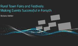 Rural Town Fairs and Festivals