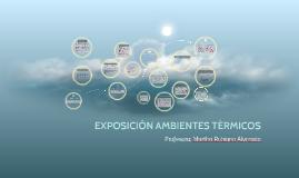 EXPOSICIÓN AMBIENTES TÉRMICOS