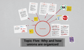 Topic Five: Why and how unions are organised