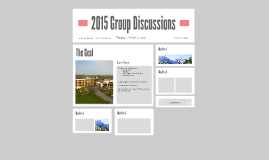 2015 Group Discussions